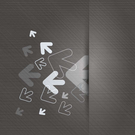 arrows background: Metallic Background with Arrows Illustration