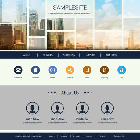 Website-Design für Ihr Unternehmen mit Singapur-Skyline Standard-Bild - 37114339