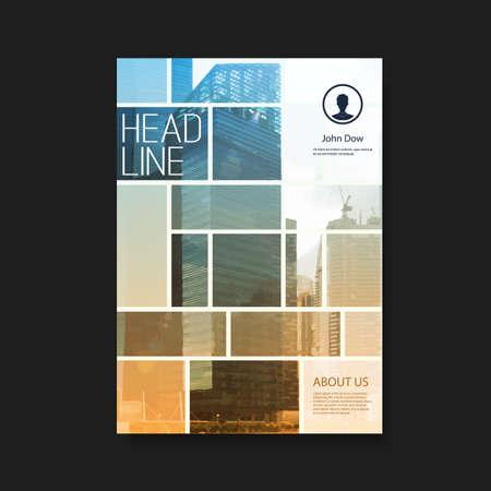 portadas: Flyer o diseño de portada con los rascacielos