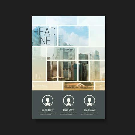 folder: Flyer o diseño de portada con los rascacielos