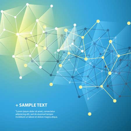 Anschlüsse - Molecular, Global, Business-Netzwerk-Design - Abstrakt Mesh-Hintergrund