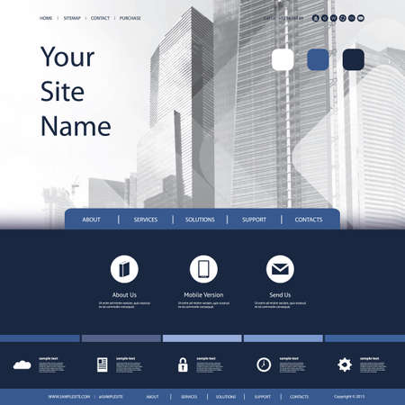 building a website: Business Website Design with Skyscrapers Background