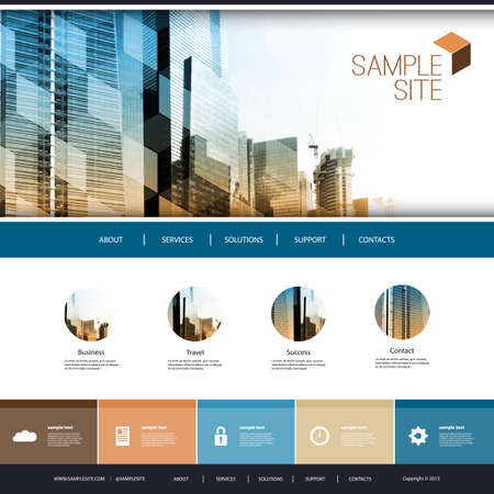 Business Website Design with Skyscrapers Background