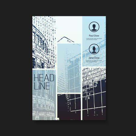 cityview: Flyer or Cover Design with Skyscrapers