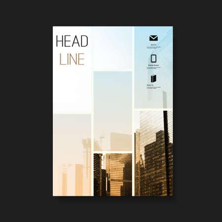 portadas: Flyer o diseño de la cubierta Vectores