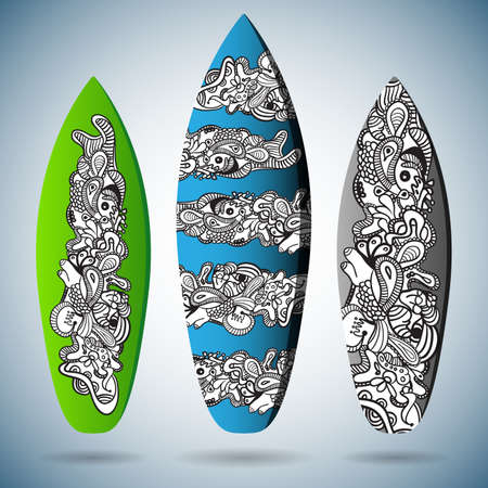 swell: Vector Surfboards Design Illustration