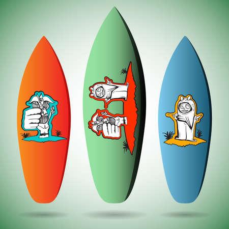 surfboards: Vector Surfboards Designs