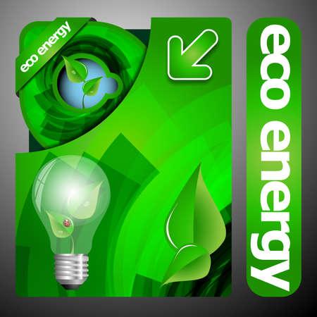 Eco Folder Design Vector