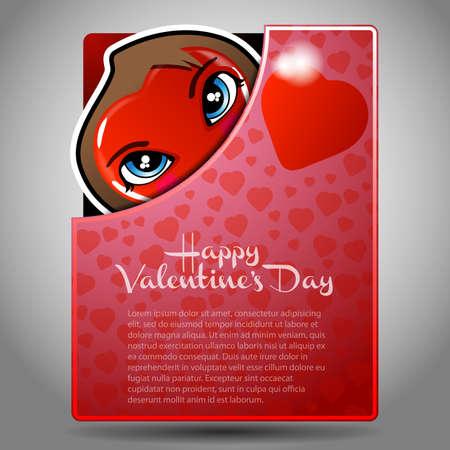 Valentines Day Folder, Flyer or Cover Design Vector
