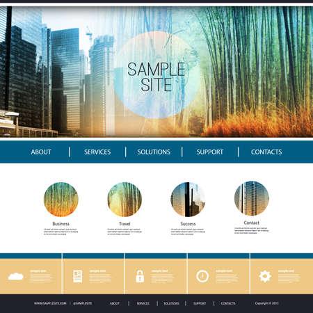 sjabloon: Website Design voor uw bedrijf met Photo Montage Achtergrond