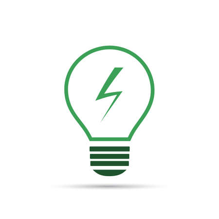 green bulb: Energy Concept Icon - Green Bulb