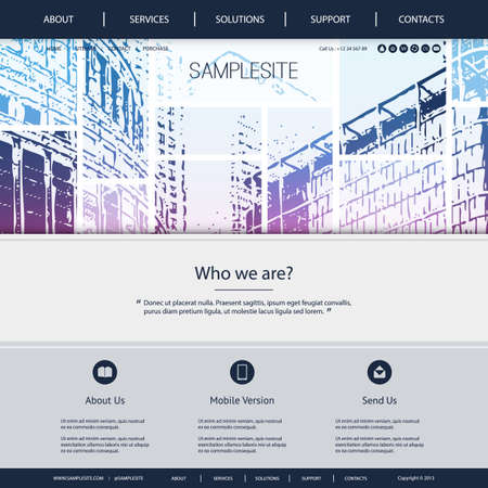 urbanized: Website Design for Your Business with Skyscrapers Background Illustration