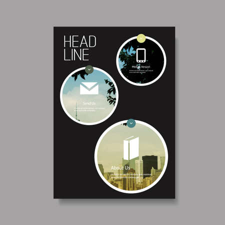 Business Flyer or Cover Design - Corporate Identity Template Illustration