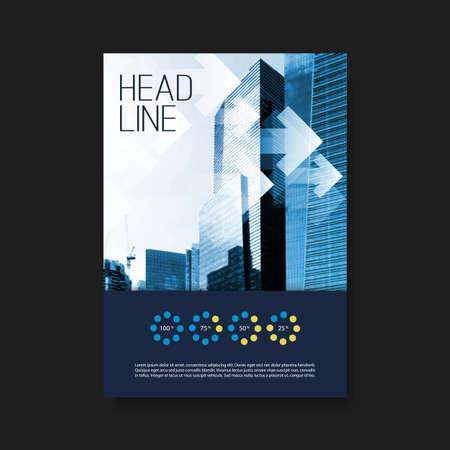 identidad: Flyer o cubierta plantilla de diseño - Negocios, Identidad Corporativa Vectores