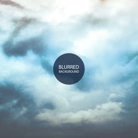 cloudy sky: Abstract Background - Blurred Image of Cloudy Sky Illustration