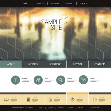 sidebar: Website Design for Your Business - Urban Theme, Metro Station Background and Linear Icons