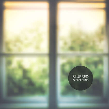 window view: Abstract Background - Window, Blurred Image, Nature