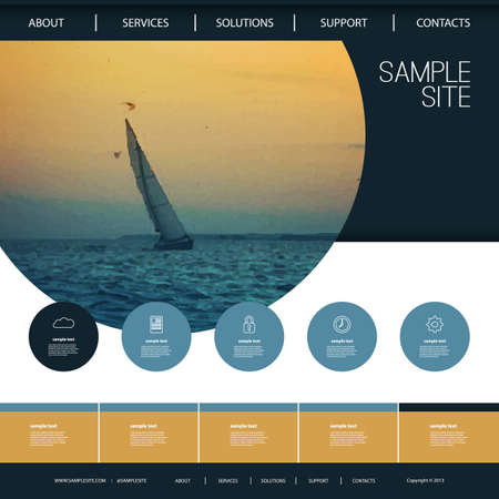 Website Design for Your Business with Sailboat Image Background Vector