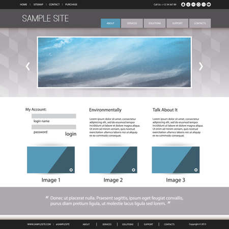 Website Design for Your Business with Abstract Cloudy Sky Image Background Vector