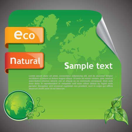 Green Eco Earth Background Vector