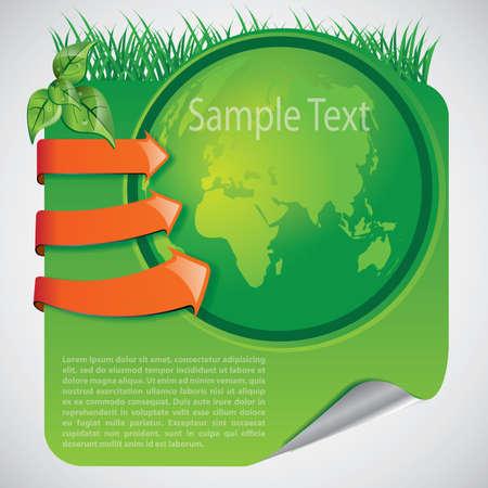 ozone friendly: Green Eco Earth Background
