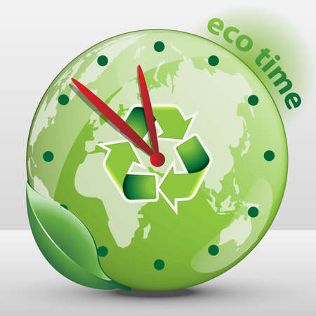 tock illustration: Ecological Clock Concept