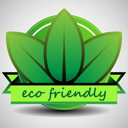 Green Eco Friendly Label Template Vector