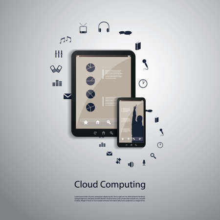 sync: Cloud Computing Concept - Connection, Sync, Download, Upload