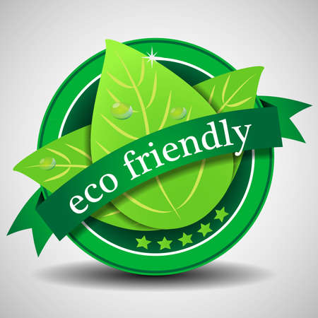 seal stamper: Green Eco Friendly Label or Badge Template