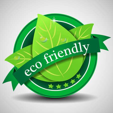 Green Label Eco friendly o plantilla Insignia