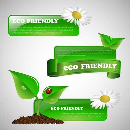 environmentally: Green Eco Friendly Banner Collection