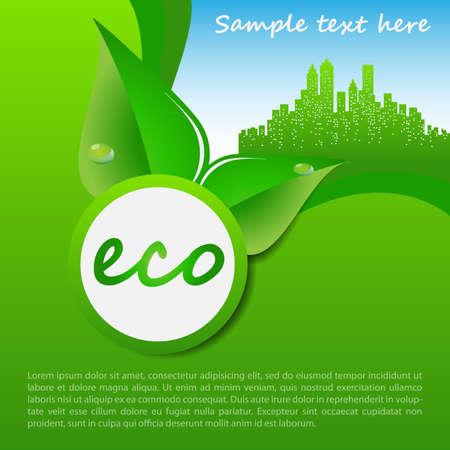 Eco Cityscape Concept Background Vector