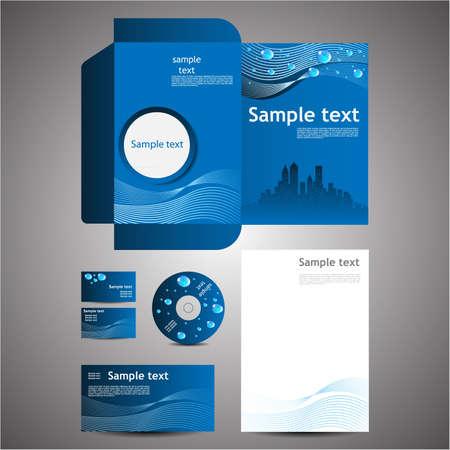 Eco Business Design Template Set  Business Card Cd Note Paper Folder Envelope
