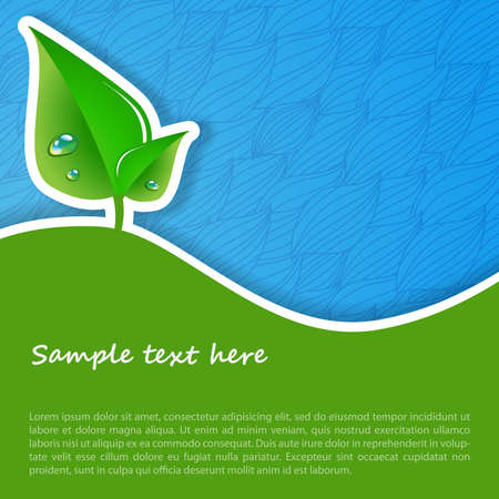 leaf line: Eco Concept Background