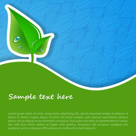 grün: Eco-Konzept-Hintergrund