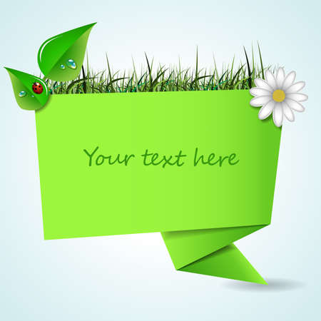 Origami Paper Speech Bubble  Spring Vector