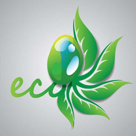 flora  vector: Eco Concept Illustration
