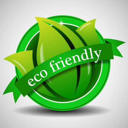 Green Eco Label or Badge Template Vector
