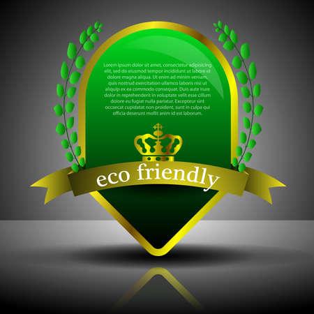 declare: Green Eco Guarantee Label or Badge Template