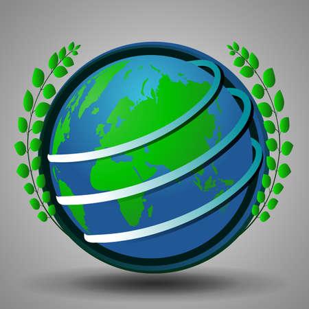 Eco Earth Globe Design Concept Vector