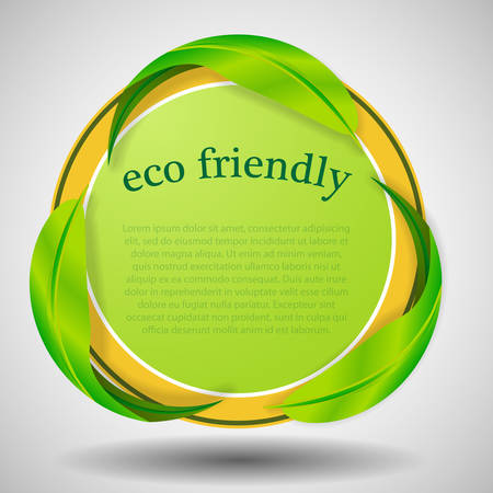 environmentally: Green Eco Label or Badge Template Illustration
