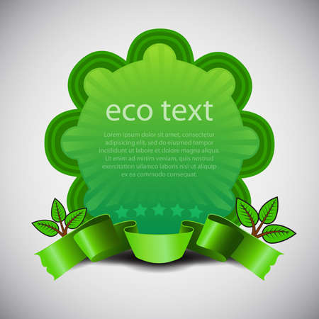 Green Eco Friendly Label or Badge Template Vector