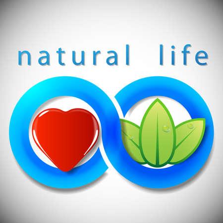 heart damage: Natural Life  Concept Background