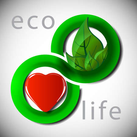 ecological damage: Eco Life Concept Background