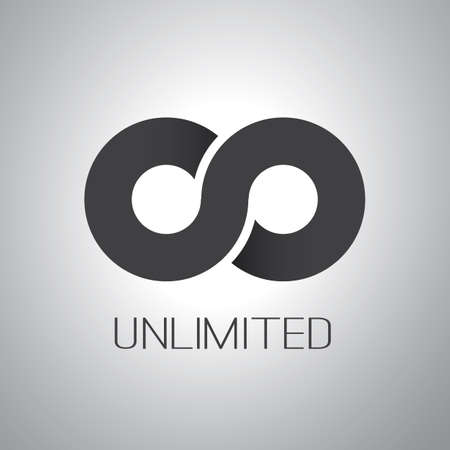 Unlimited Symbol Icon Design Ilustracja