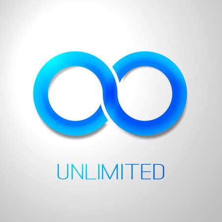 Unlimited Symbol Icon Design Illustration