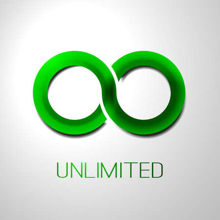 unlimited: Unlimited Symbol Icon Design Illustration