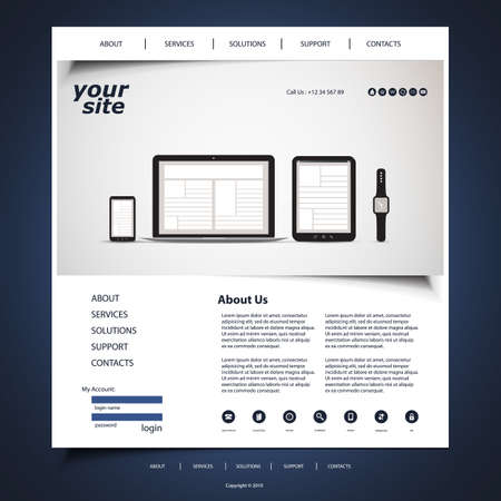 Website Design for Your Business with Electronic Devices Vector