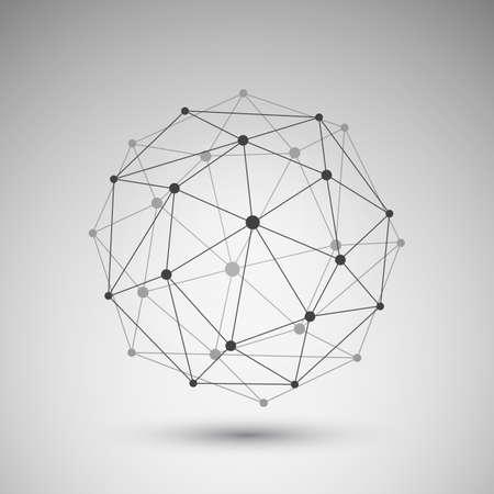 ネットワーク グローブ ・ デザイン  イラスト・ベクター素材