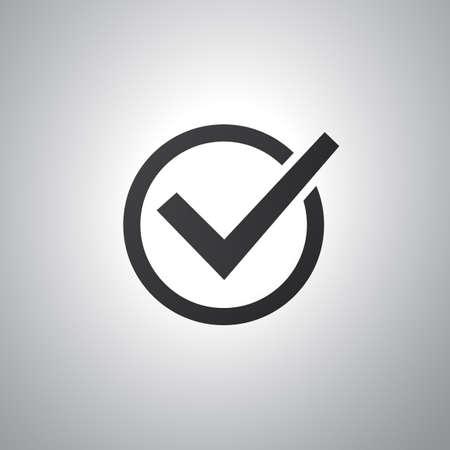 Checkmark Icon  Flat Design Style Vector